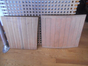 Two Mahogany boat hatches $65.00 each
