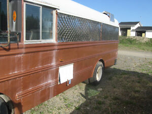 Converted catering bus