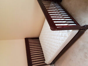 Double sleigh bed and near-new sultan mattress