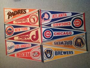 Various NFL, CFL, NBA and MLB Wall Pennants