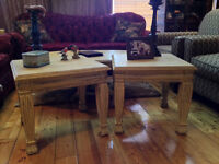 Night/End Tables/Hand Carved Legs/Distressed/Solid Hardwood