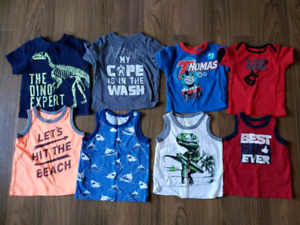 Boys toddler 12-18 mth Summer Tshirts, Shorts & Onesies