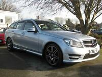2012/62 Mercedes-Benz C250CDI 201bhp 7G-Tronic Plus AMG Estate with Map Pilot