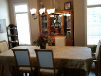 Beautiful Dining Table with China Cabinet