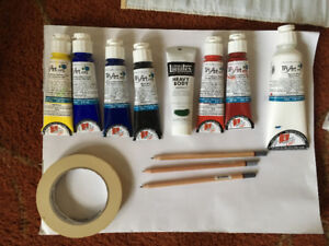 Acrylic Paints, Brushes - All materials for NSCAD cont ed cours