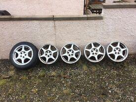 5 x Subaru alloy wheels perfect for snow winter