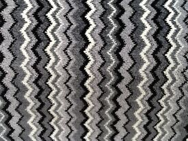 Brand new 8ft by 13 ft zig zag black grey carpet