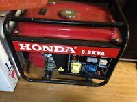 Honda 6.5kva petrol gene