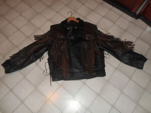 INDIAN MOTOCYLE LEATHER COAT AND CHAPS