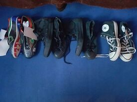 Shoes Converse and Football Boots (Plastic Studs)