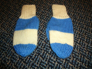 Size 5-7 Hand Knit Winter Mittens