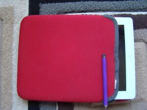 RED SLEEVE LIKE PADDED CASE COVER FOR IPAD 3,4 AIR 1,2, SAM TAB