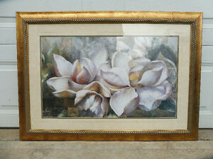 Framed Flower picture Strathcona County Edmonton Area image 1
