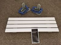 Mobility aid slatted bath seat bench