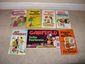 Dennis the Menace and other comic books lot of 7