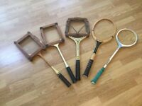 Vintage Tennis, squash badminton rackets