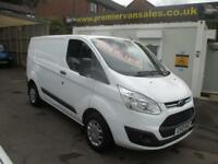 2017 17 FORD TRANSIT CUSTOM 2.0 TDCI, 130 BHP, 290 SHORT WHEEL BASE, HIGH SPEC T