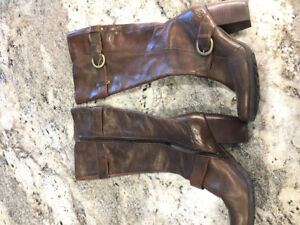 Size 10 leather brown boots