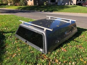Fibrobec truck cap from F-150, with fitted all weather bed liner