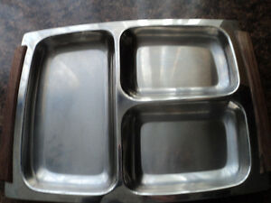 Vintage Stainless Steel Divided Tray