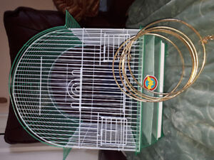 Small bird cage with hanger for ceiling