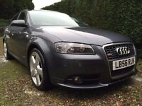 Audi A3 S Line TDI Diesel Sportback in grey. 12 months MOT, FSH - excellent condition