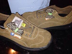 LeMaitre suede steel toe boots - brand new Cambridge Kitchener Area image 1