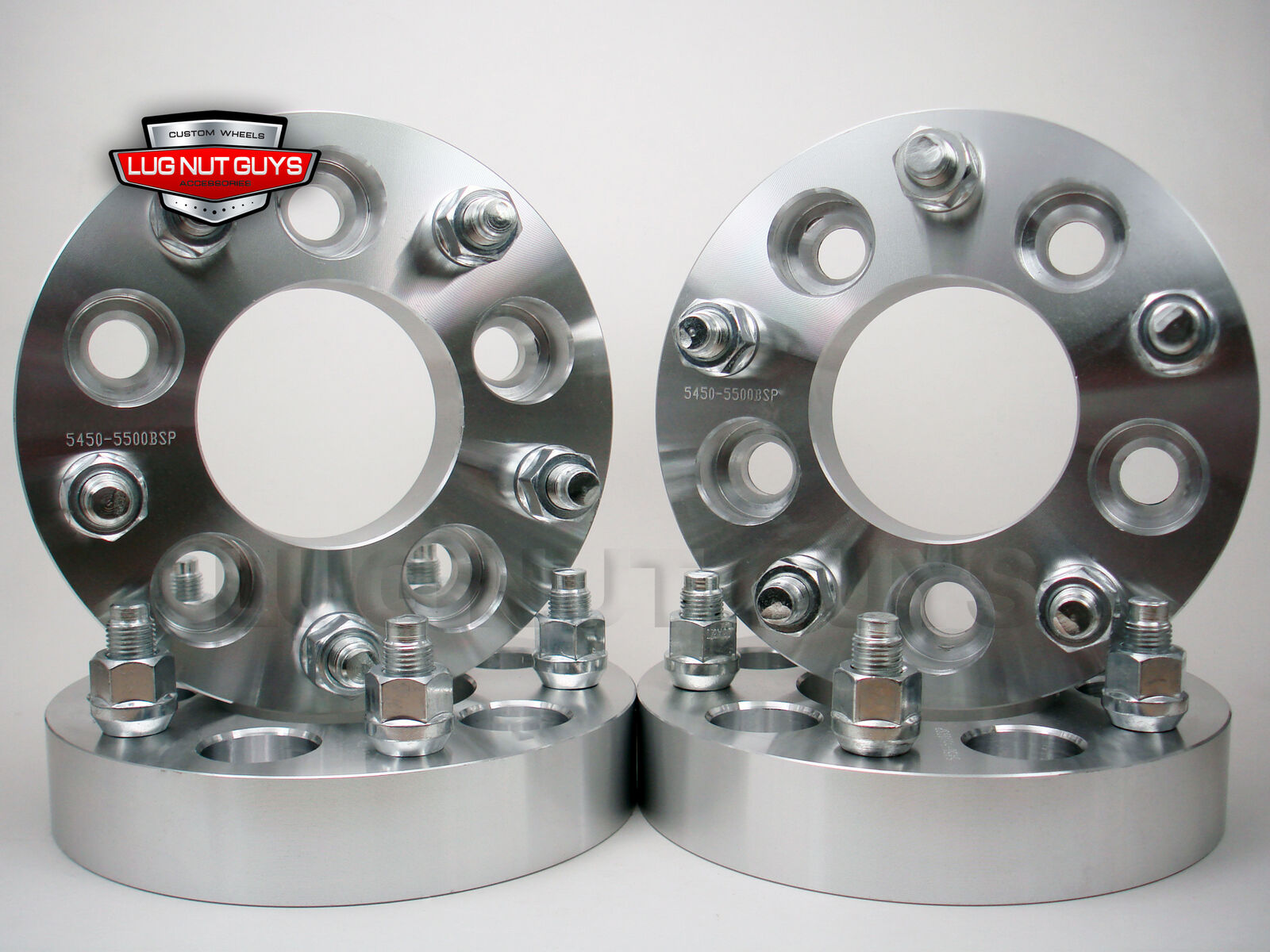 4 1.25 Inch Wheel Spacer Adapters 5x4.5 to 5x5 Bolt Pattern Front /& Rear Set