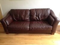 DFS dark brown leather sofas from Linda Barker range