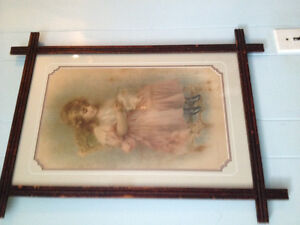 Antique painting framed