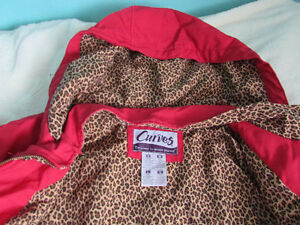 Brand New Womens Red Rain Jacket Size L London Ontario image 3