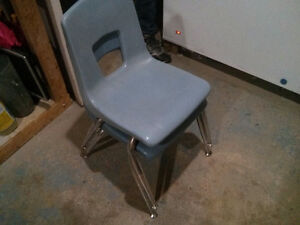 Old classroom chairs 2 London Ontario image 3
