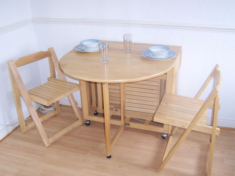 John Lewis Butterfly Folding Dining Table And Four Chairs