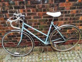 Vintage ladies Triumph bike