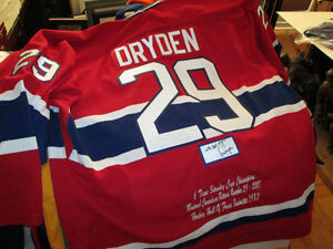 Ken Dryden Autographed Montreal Canadiens Pro Stats Jersey.