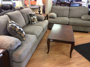 ASHLEY COUCH AND LOVE SEAT