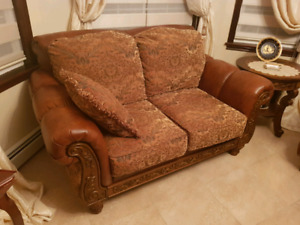 Leather Love Seat (couch)