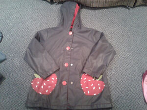 Girls size 5 Nevada rain jacket