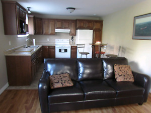 For Rent Furnished Two Bedroom Basement Apartment