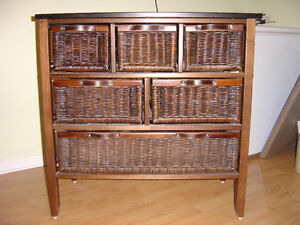 6 Drawer Wicker Chest