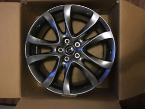 "Mazda 19"" OEM rims wheels premium Gun Metal 14.3x5 (New In Box)"