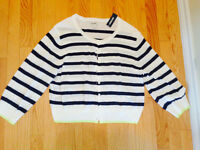OLD NAVY LADIES SHORT SWEATER 3/4 SLEEVE SZ XL NEW WITH TAGS