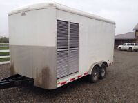 Trailer with 40 KW genset and 40 CFM screw compressor