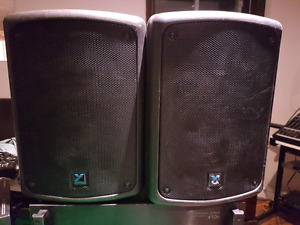 Ab 410b power amp and 2yorkville cx80