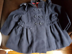 Size2t/3t girls navy peacoat