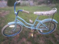 nicely repainted girls bike