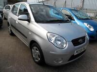 2009 59 Kia Picanto 1 1.0 5 Door 1 Owner 62K £30 Road Tax Mot Oct 2017 Silver