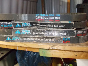 4 new old stock 1066 Dayco snowmobile drive belts