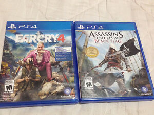 Ps4 games: Assassin's Creed IV: Farcry 4