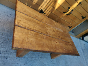 Rustic Distressed Wooden Coffee Table